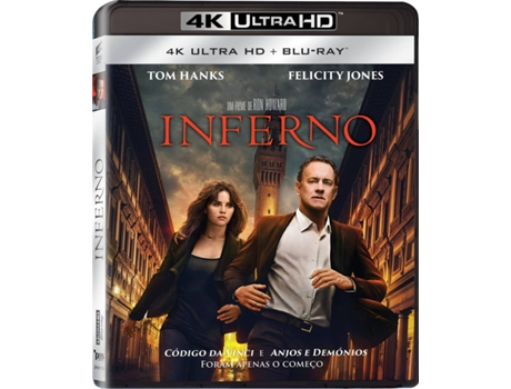 Blu-Ray 4K + Blu-Ray Inferno — De: Ron Howard / Tom Hanks, Felicity Jones, Irrfan Khan