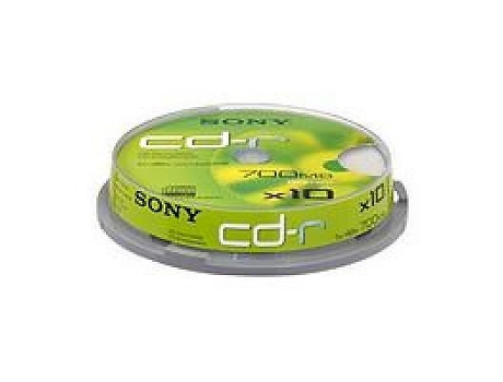 CD-R SONY 80' Cilindro 10 — 700 MB | 10 unid.