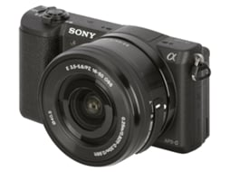 Máquina Fotográfica Mirrorless SONY A5100 + 16-50mm + 55-210mm (24.3 MP - Sensor: APS-C - ISO: 100 a 25600) — 24.3 MP | ISO 100 a 25600