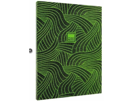 Caderno A6 MAKE NOTES Flourescent Diary Verde — 80 folhas