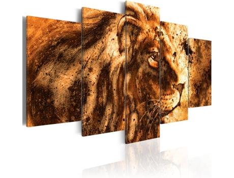 Quadro artgeist beautiful lion cm worten pt