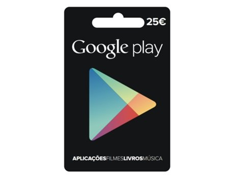 Cartão Googleplay - 25 euros — Google Play