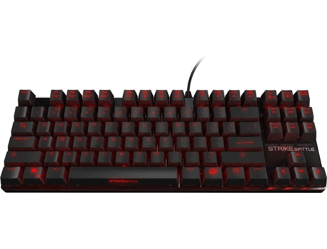 Teclado Gaming OZONE STRIKE BATTLE — Preto / USB