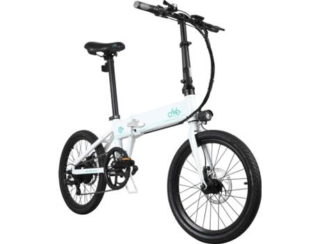 FIIDO - Bicicleta Elétrica Dobrável FIIDO D4S 20 Branco (Autonomia: 80 km  Velocidade Máx: 25 km/h)