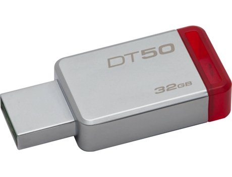 Pen USB KINGSTON DataTraveler 50 32GB USB 3.1 Metal/Vermelho — 32 GB/USB 3.0