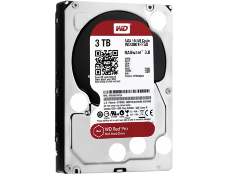 Disco Interno 3.5'' WESTERN DIGITAL  3TB Red PRO WD3001FFSX — 3.5'' / 3 TB / SATA3 6 Gb/s