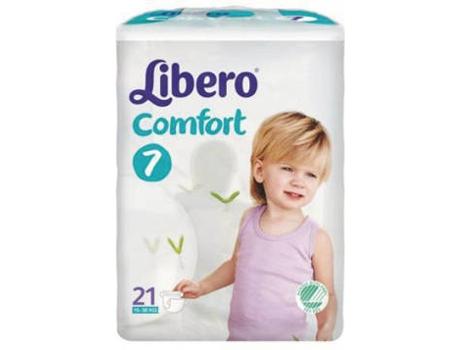 Fraldas LIBERO Comfort Fit (T7 - 15-30 kg - 21 un)