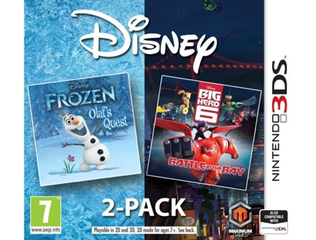 Jogo Nintendo 3DS Disney 2 Pack: Frozen + Big Hero 6
