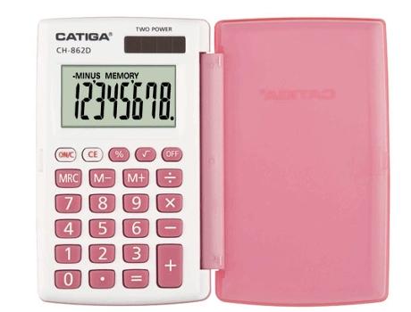 Calculadora Básica CATIGA CH-862D Rosa | [4411981 ]