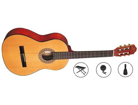 OQAN - Pack Guitarra Clássica OQAN QGC-25 (19 Trastes - Corpo: Madeira de Tília)