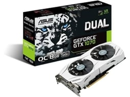 Placa Gráfica ASUS GEFORCE DUAL GTX 1070 8 GB DDR5 — GeForce GTX 1070 / 1582 Mhz / 8GB GDDR5