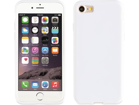 Capa MUVIT Crystal Soft iPhone 7, 8 Branco — Compatibilidade: iPhone 7, 8