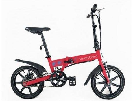 SMARTGYRO - Bicicleta Elétrica SMARTGYRO E-Bike Vemelha (Velocidade Máx: 25 km/h  Autonomia: 50 km)