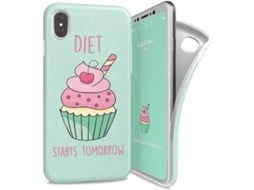 Capa I-PAINT Soft Cup Cake iPhone X Verde — Compatibilidade: iPhone X