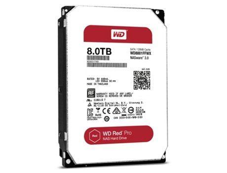 Disco Interno 3.5'' WESTERN DIGITAL 8TB Red WD80EFZX — 3.5'' / 8 TB / SATA3 6 Gb/s