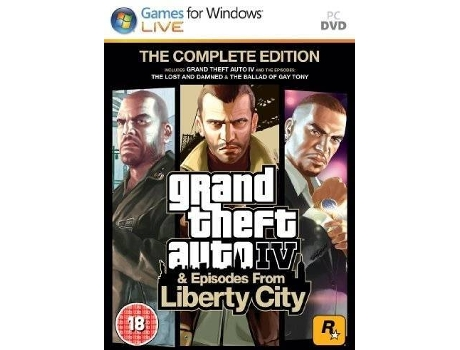 Jogo PC Grand Theft Auto - Episodes from Liberty City — Ação/Aventura / Idade mínima recomendada: 18