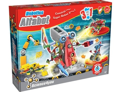 Kit SCIENCE4YOU Robotics Alfabot 3 em 1 — Idade mínima recomendada: 12