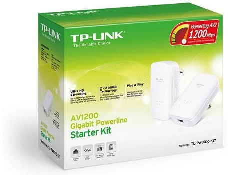 Powerline TP-LINK AV1200Gb TL-PA8010 Kit — 1200 Mbps