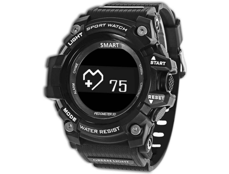 Smartwatch ZEBLAZE IP67 Muscle Preto — Android e iOS / 160 mAh / Bluetooth 4.0