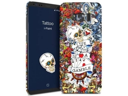 Capa I-PAINT Hard Samsung S8 Plus Tattoo — Compatibilidade: Galaxy S8 Plus