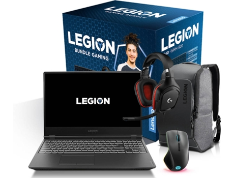 Pack Gaming LENOVO Legion (Portátil Gaming Y540-15IRH + Mochila + Rato M500 + HeadSet G332) — Windows 10 Home | Full HD