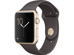 Apple Watch APPLE Series 1 42 mm Dourado, Castanho — Bluetooth 4.0 e Wi-fi | 205 mAh | iOS