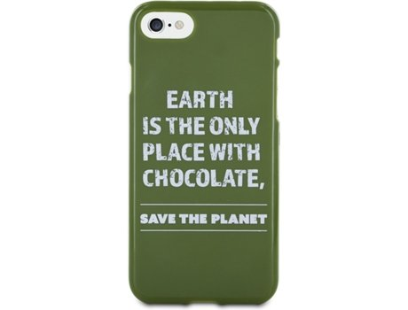 Capa Tpu WORDS Tacto Goma Save The Planet iPhone 7 — Compatibilidade: iPhone 7