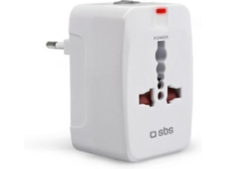 Adaptador Corrente Interna SBS Branco — Adaptador
