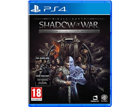 Jogo PS4 Middle-Earth: Shadow Of War Silver Edition — Ação/Aventura / Idade mínima recomendada: 18