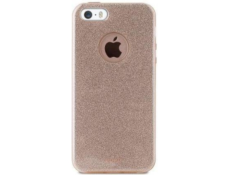 Capa PURO Shine iPhone 5, 5s, SE Dourado — Compatibilidade: iPhone 5, 5s, SE