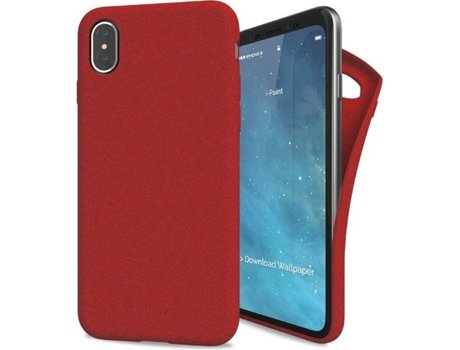 Capa I-PAINT Sand Iph8 Red — Compatibilidade: iPhone X