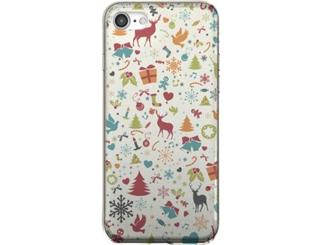 Capa SBS Christmas Collection iPhone 6, 6s, 7, 8 Multicor — Compatibilidade: Apple iPhone 6, 6s, 7, 8