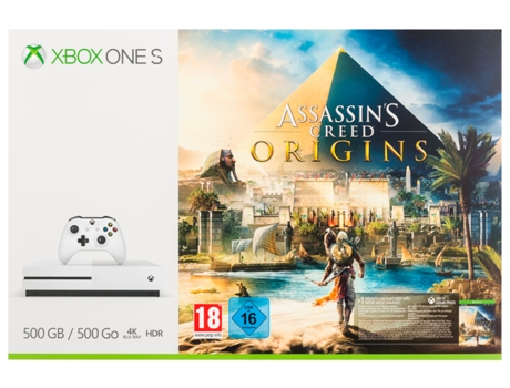Consola XBOX ONE S 500GB + Assassins Creed — 500 GB