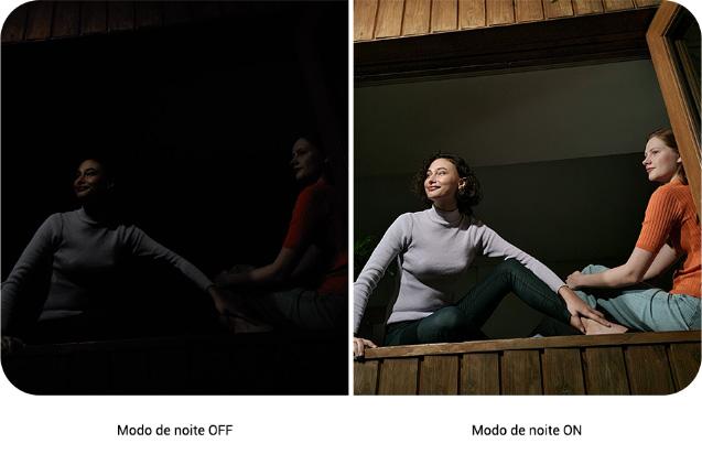 O nosso maior sensor duplo píxel para fotos noturnas vívidas e claras