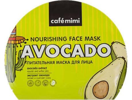 Máscara de Rosto CAFÉ MIMI Nutritiva em Folha Amarelo (22 gr)