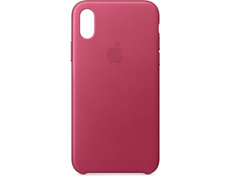Capa APPLE Leather iPhone X Rosa — Compatibilidade: iPhone X