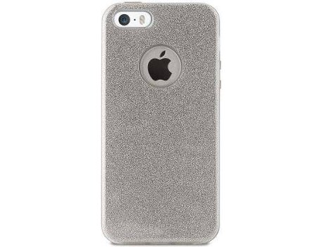 Capa PURO Shine iPhone 5, 5s, SE Prateado — Compatibilidade: iPhone 5, 5s, SE