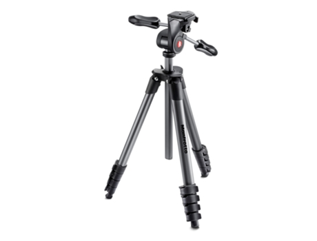 Tripé MANFROTTO Compact advanced preto — Fixa / Peso Máx: 3KG