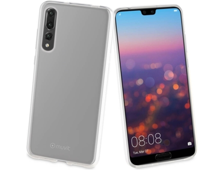 Capa MUVIT Crystal Soft Huawei P20 Plus Transparente — Compatibilidade: Huawei P20 Plus