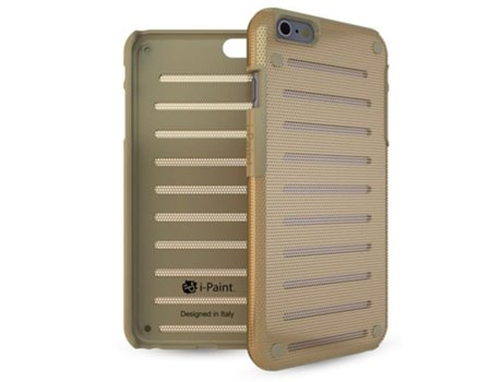 Capa I-PAINT Metal iPhone 6, 6s Dourado — Compatibilidade: iPhone 6, 6s