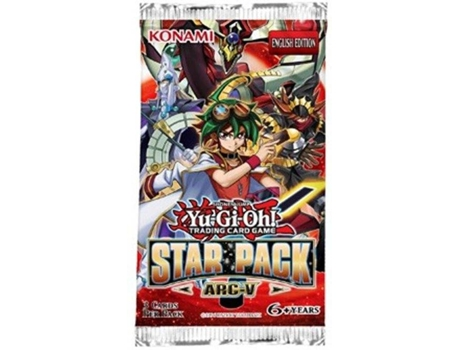 Pack Cartas YU-GI-OH! Arc - V Booster — Pack com 3 cartas