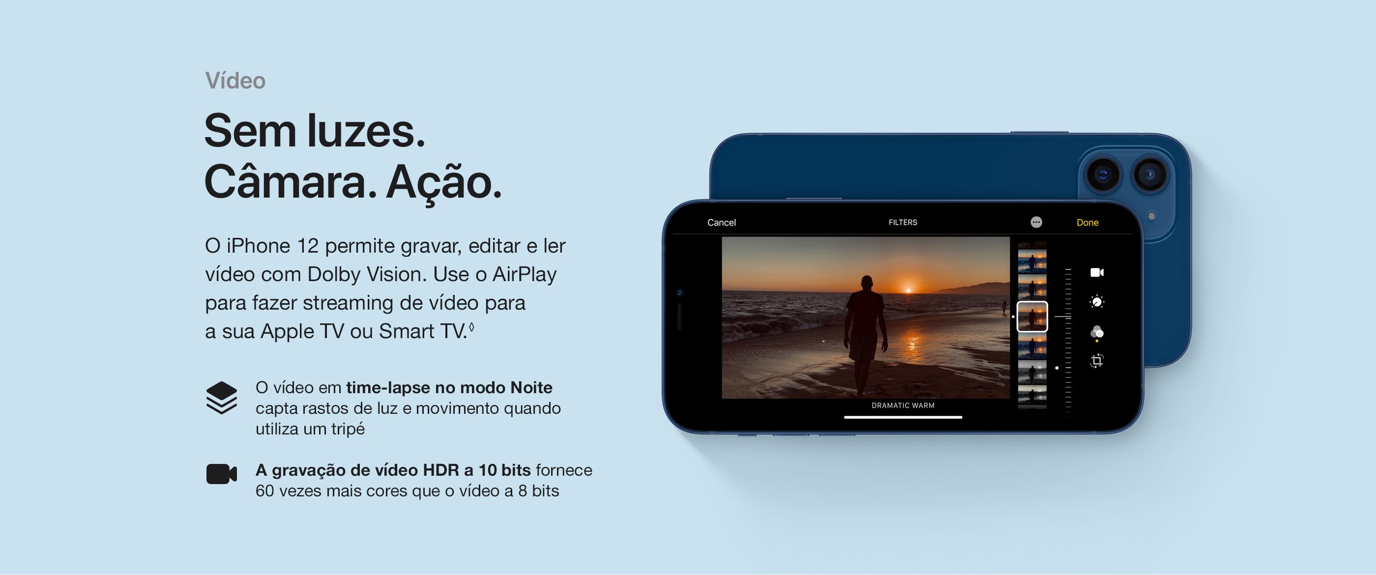 iPhone 12 e iPhone 12 Mini Vídeo