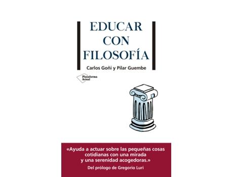 Livro Educar Con Filosofía de Carlos Goñi (Español)
