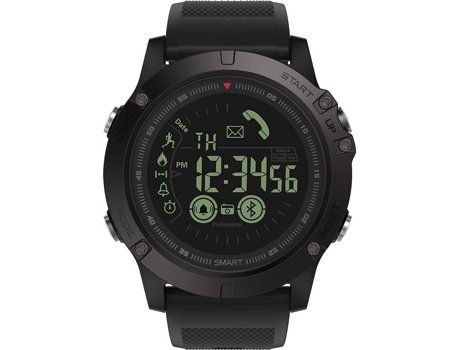 Smartwatch ZEBLAZE Vibe 3 Preto — Android e iOS / 610 mAh / Bluetooth 4.0
