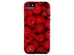 Capa CASE-MATE BarelyThere Framboews iPhone 4, 4s Vermelho — Compatibilidade: iPhone 4, 4s