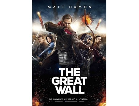 Blu-Ray The Great Wall Blu-ray Italiano