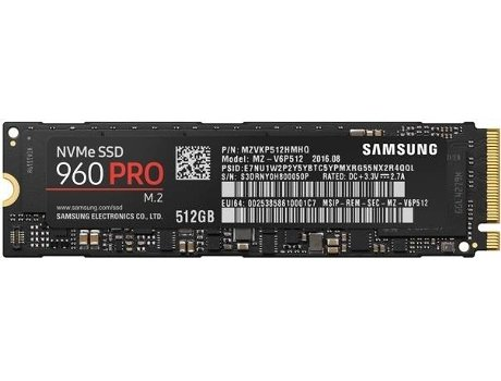 Disco SSD SAMSUNG 512GB 960 PRO M2 PCIE — PCI Express | 512 GB