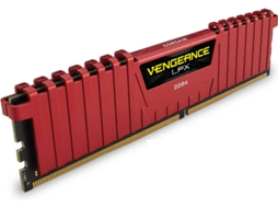 Memória RAM CORSAIR Vengeance LPX Red Heat Spreader 8GB DDR4 2400Mhz 2X288 DIMM — 8GB / DDR4 / 2400Mhz