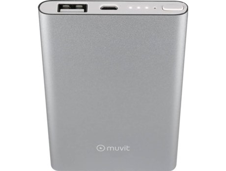 Power Bank MUVIT 5000mAh Prata — 5000mAh
