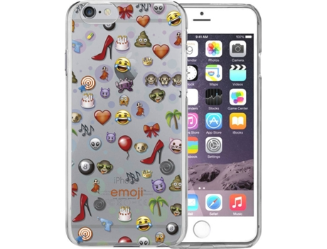 Capa EMOJI Collage iPhone 7, 8 — Compatibilidade: iPhone 6, 6s, 7 ,8